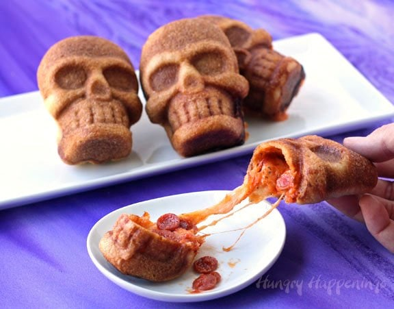 Stuffed Skull Pizzas