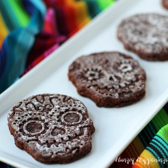 How to make Sugar Skull Brownies for a Day of the Dead or Halloween party.