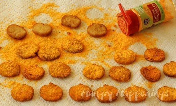 Halloween Snacks Cheddar Cheese Pumpkin Pita Chips