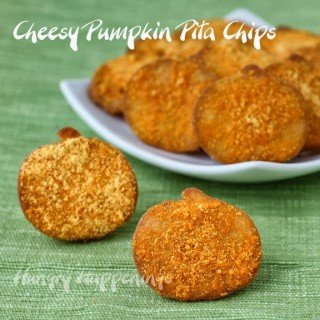 Halloween Snacks – Cheddar Cheese Pumpkin Pita Chips