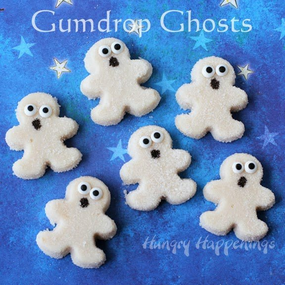 This year make some Homemade Halloween Candy - Gum Drop Ghosts! These adorable, tasty treats are the perfect candy to stick in those trick-or-treat bags or simply enjoy for yourself.