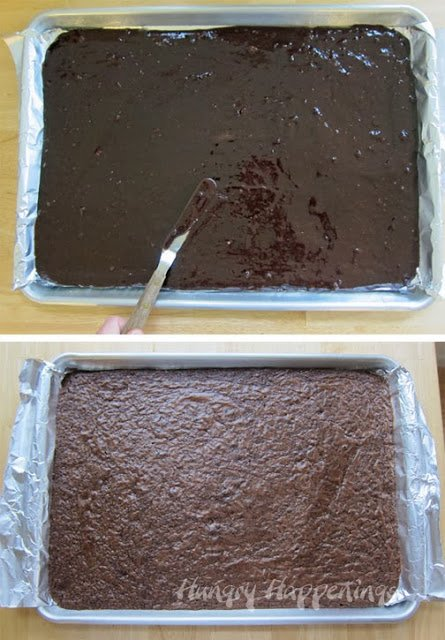 How to bake a brownie to make Sugar Skull Brownies.