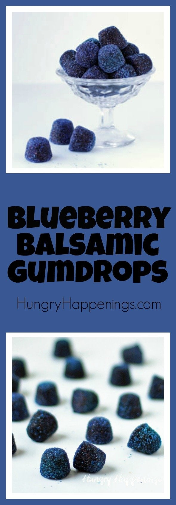 Use ordinary blueberries that you can find in any grocery store and turn them into some scrumptious gumdrops. This Tart Balsamic Blueberry Gumdrops Recipe is the perfect way to add some freshness to a holiday favorite.