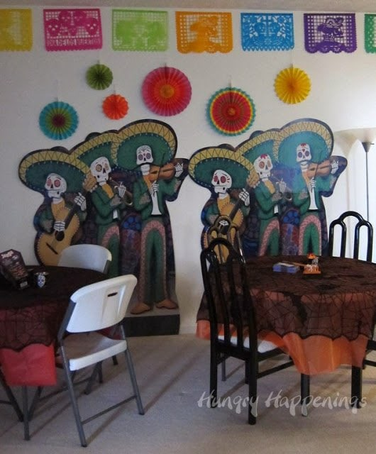 Decorated your walls with Papel Piccado and Day of the Dead Standees.