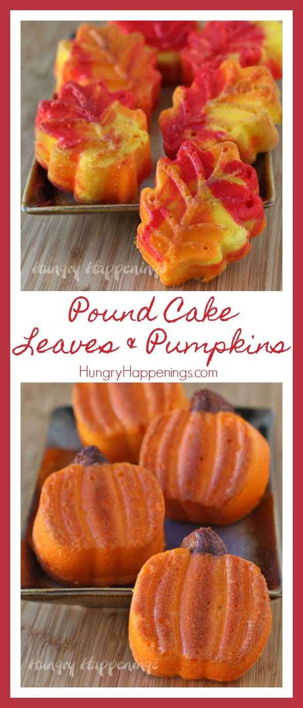 Do yourself a favor and use this easy Fall Dessert and Thanksgiving recipe for your next party. ThesePretty Pound Cake Leaves and Pumpkinsare the perfect way to end any meal and will absolutely blow you away (just like all the leaves on the ground).