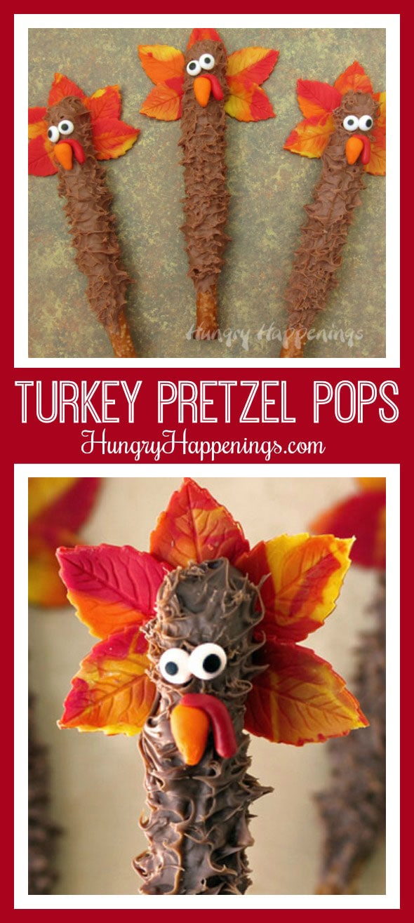 These chocolate covered pretzel turkeys are wild and ready to be piled, into your mouth that is. Enjoy theseThanksgiving Treatsat any course of the meal. I will totally back you up if you claim to your family that they are a palette cleanser.