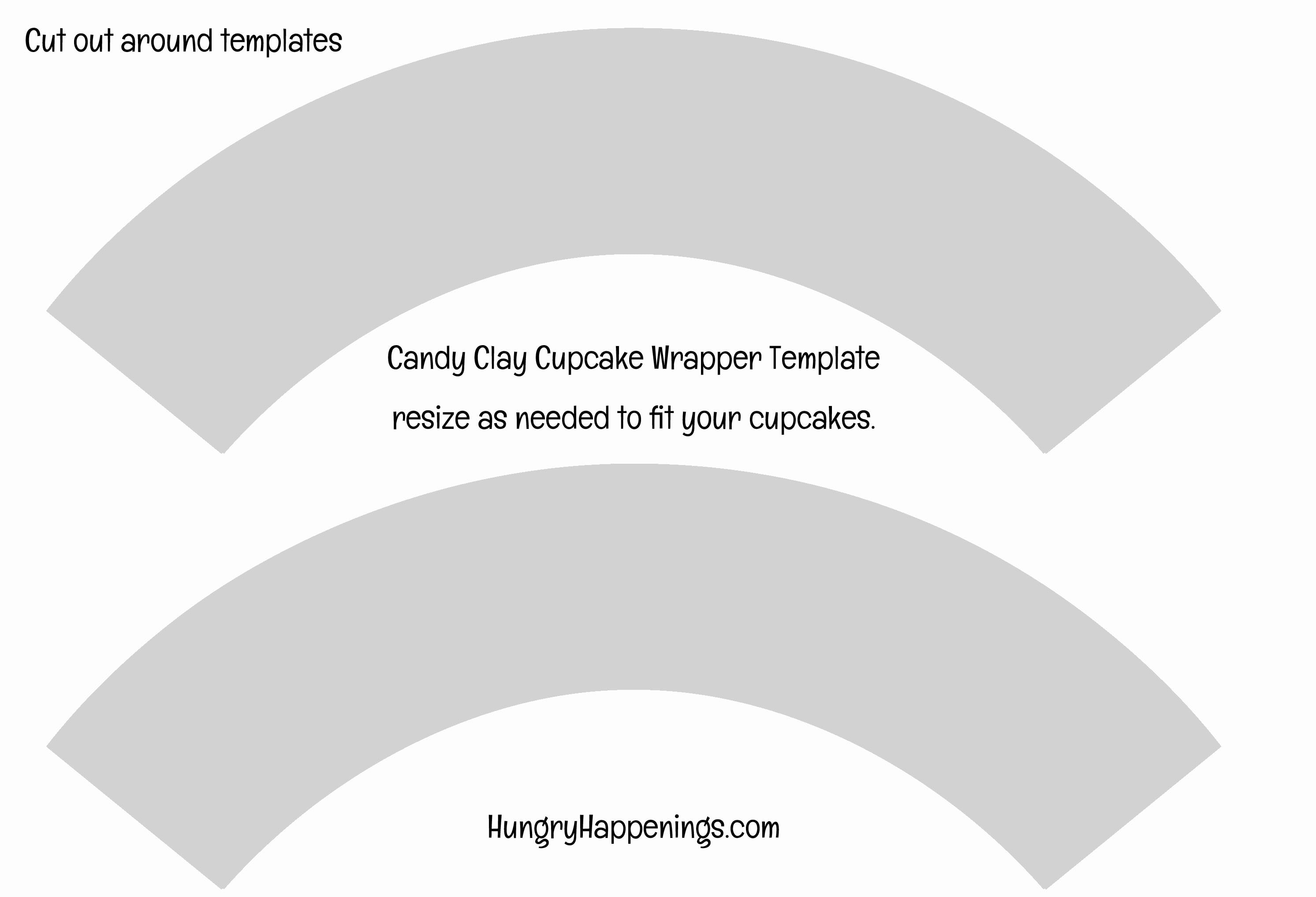 Print A Copy Of The Cupcake Wrer Template