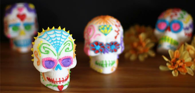 Day of the Dead Sugar Skulls are easy to make and so fun to decorate using royal icing.