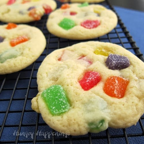 Christmas Cookies - gumdrop filled sugar cookies.