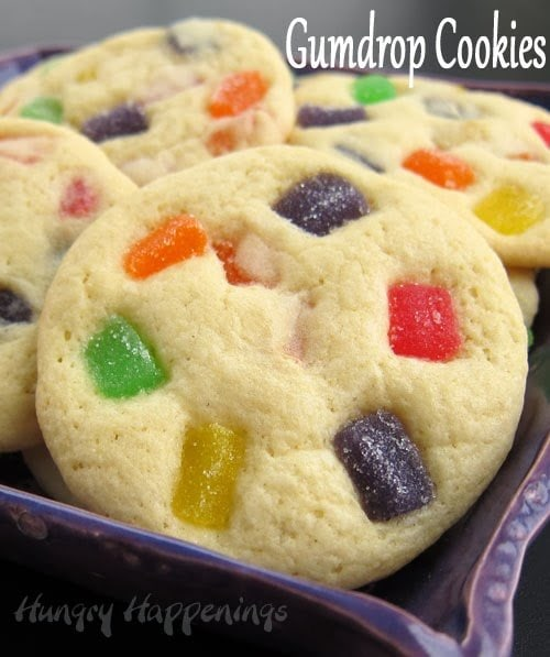 These Gumdrop Cookies are my absolute favorite cookies. There's nothing better than soft and chewy gumdrop pieces mixed into a fluffy sugar cookie.