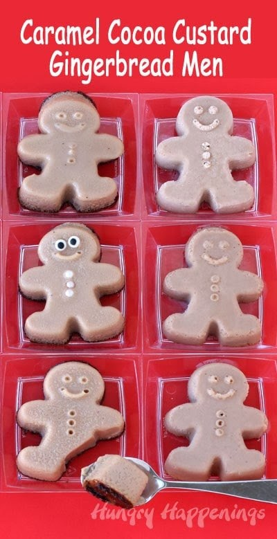 Caramel Cocoa Egg Nog Custard Gingerbread Men   HungryHappenings.com