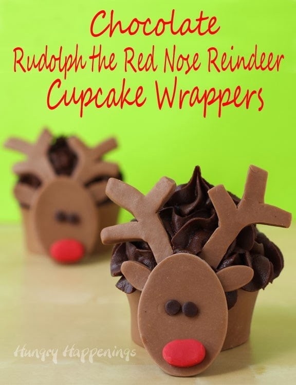 Here's the last of my cupcake wrapper ideas! I'm totally in love with these Rudolph Christmas Cupcake Wrappers and am excited to hear about all the delicious cupcakes you will make out of them!