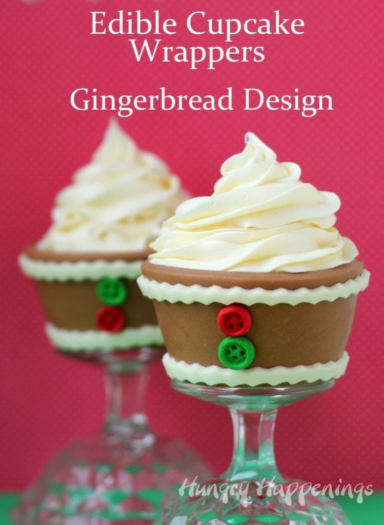 Gingerbread Cupcake Wrappers | HungryHappenings.com