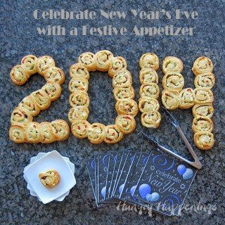 Arrange Mediterranean Pinwheels into the coming year for New Year's Eve