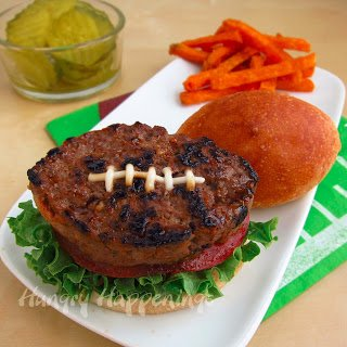 football shaped hamburgers