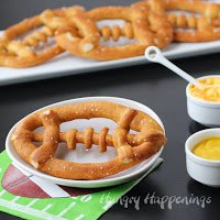 soft pretzel footballs