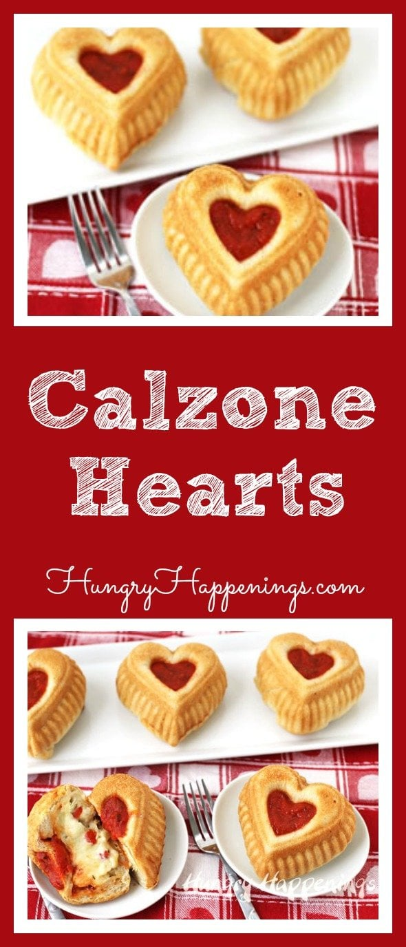 You need cheesy, you need saucy, you need doughy. Make these Calzone Hearts for your loved ones and satisfy all their needs whether its lunch, dinner, or a midnight snack.