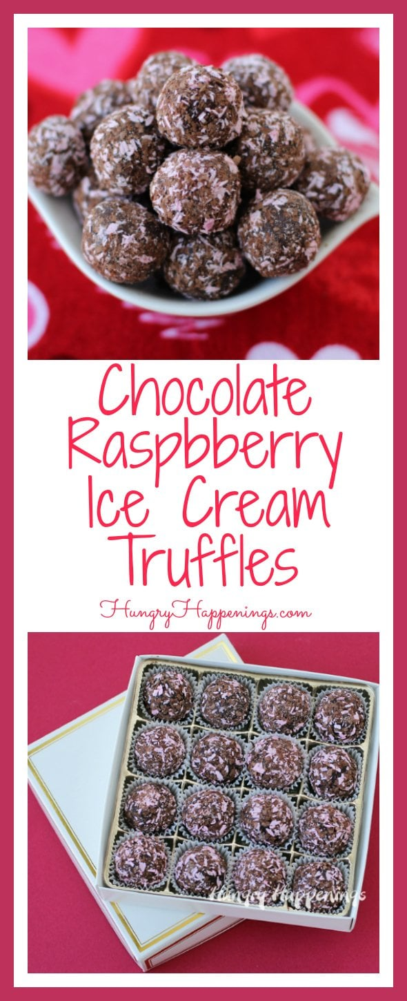 Everybody loves truffles, everybody loves ice cream, so why not combine them? That's what I did with these Chocolate Raspberry Ice Cream Truffles and they are absolutely delicious.