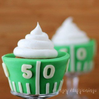 Edible Football Field Cupcake Wrappers – Super Bowl Dessert
