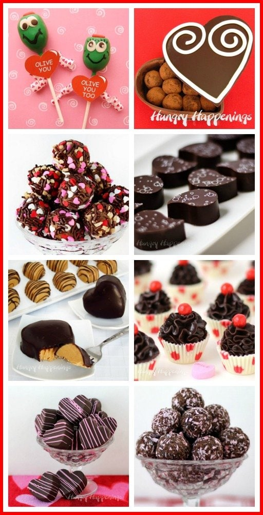 Make homemade chocolates to give to your loved ones on Valentine's Day. Find recipes for chocolate truffles, peanut butter fudge hearts, truffle cupcakes and more at HungryHappenings.com.