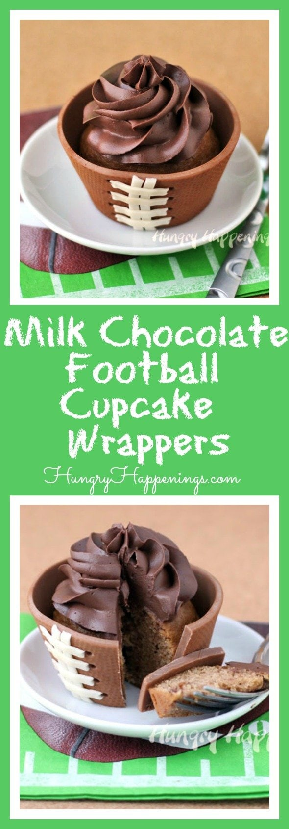 Hide your cupcakes in these adorable Milk Chocolate Football Cupcake Wrappers so when someone picks it up they will realize there is a scrumptious cupcake inside that is just waiting to be eaten!