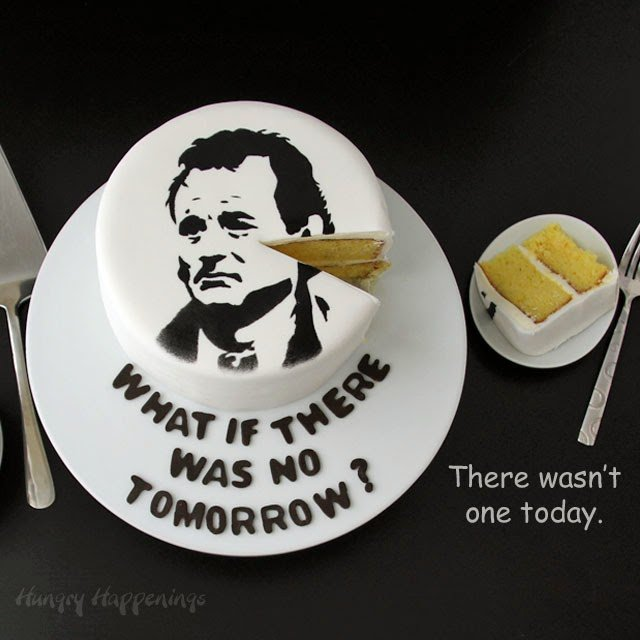 Bill Murray Groundhog Day Cake | HungryHappenings.com