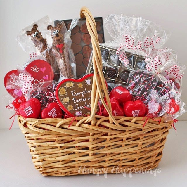 Valentine's Day gift basket