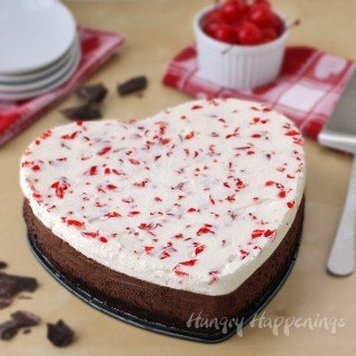 Three Layer Chocolate Cherry Mousse Cake