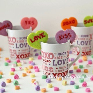 Conversation Heart Mug Hug Cookies