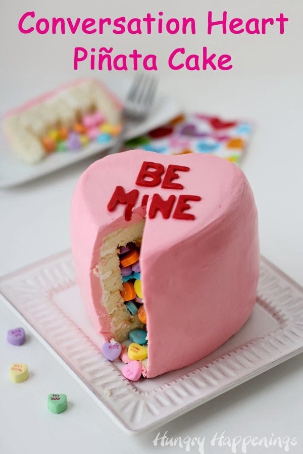 Conversation Heart Cake | HungryHappenings.com