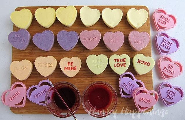 Conversation heart dessert recipe