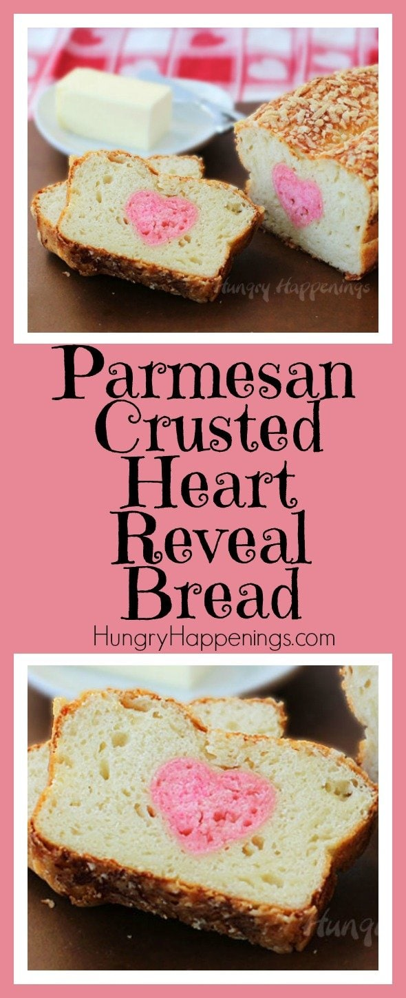 Surprise your loved ones when they slice a piece of this Parmesan Crusted Heart Reveal Bread. They will be impressed by your skills and will be overwhelmed when they take a bite and see how delicious and soft the bread is.