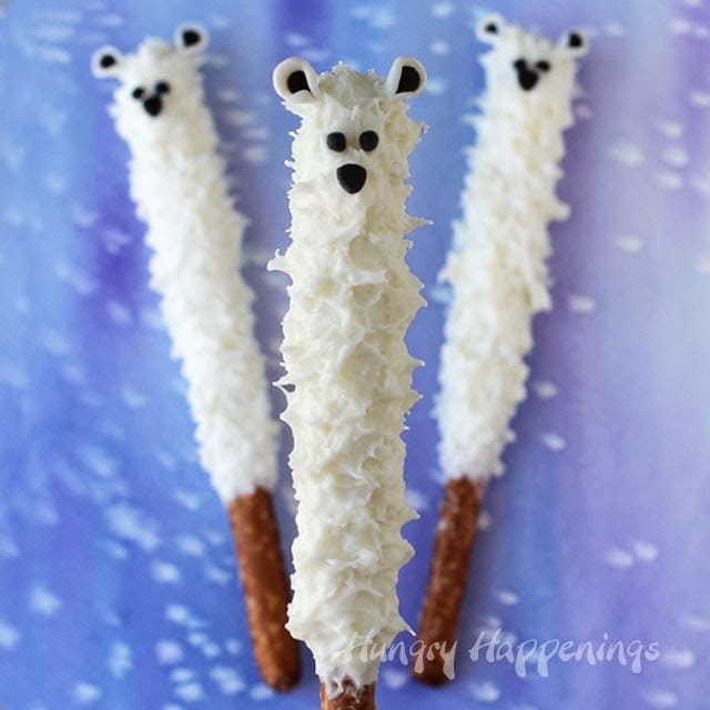 polar bear pretzel pops