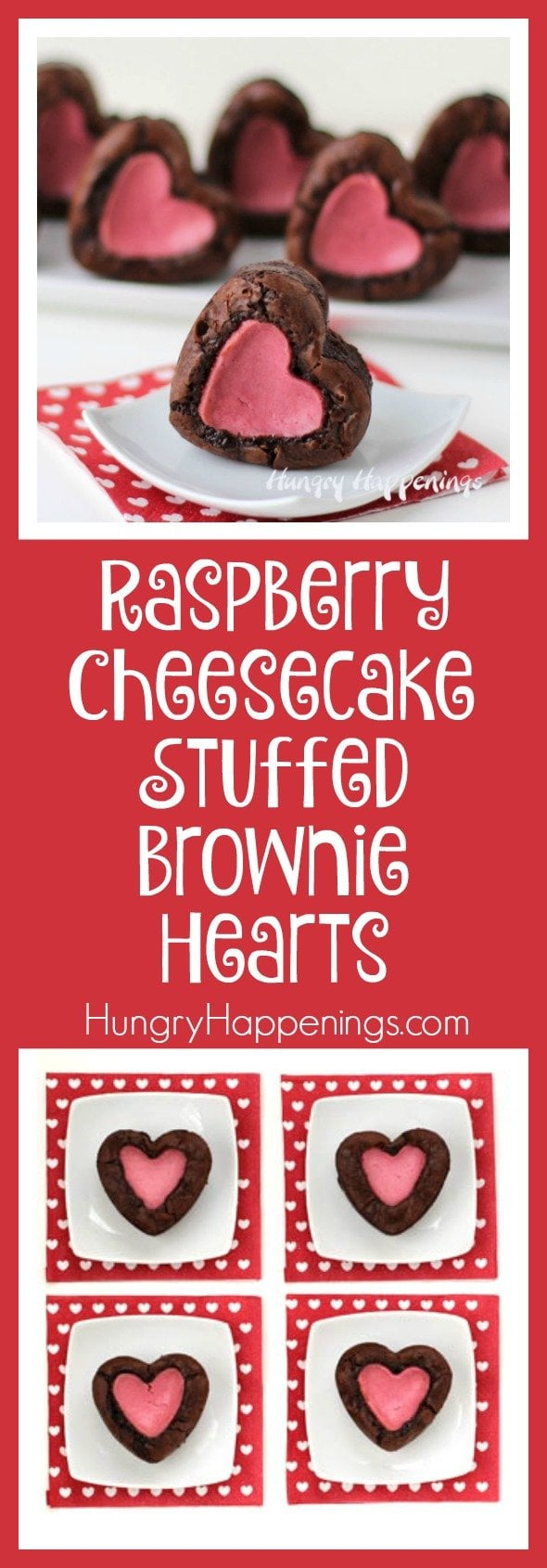 Make your significant other fall in love with you all over again by making them these Raspberry Cheesecake Stuffed Brownie Hearts. They will making you drop everything and focus completely on the intense taste they have!