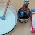 Add 1/4 cup of Creme de Menthe to a Betty Crocker White Cake mix.