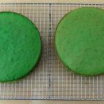 baked green Creme de Menthe cakes