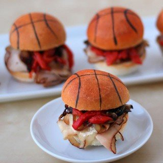 March Madness Party Food – Blackened Turkey Basketball Sliders