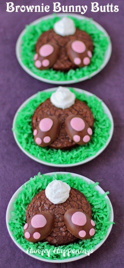 Brownie Bunny Butts | HungryHappenings.com
