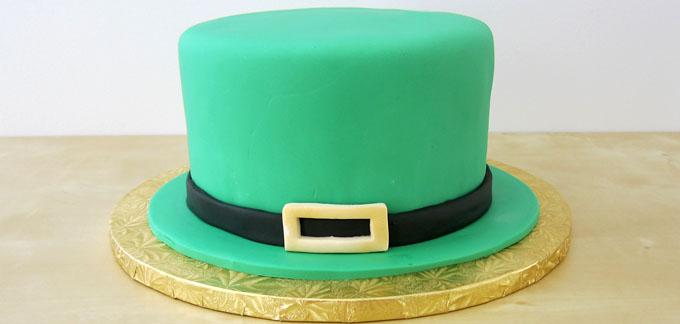 green Leprechaun Hat cake