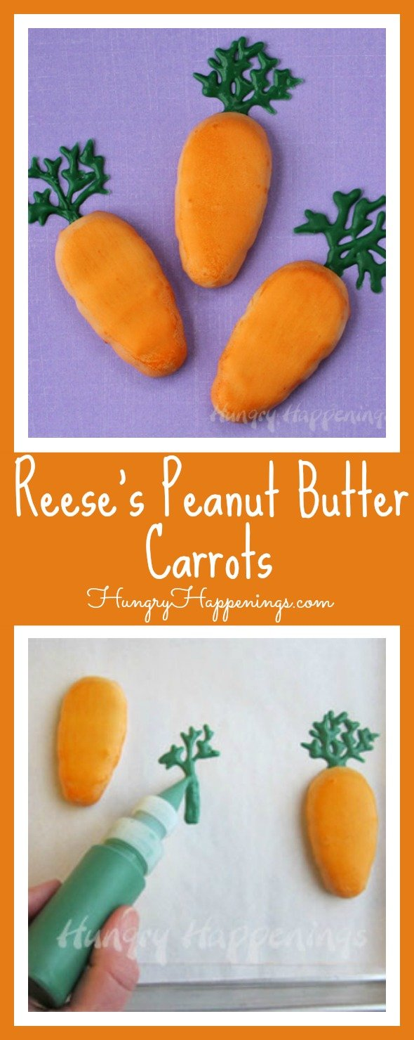 Take a store bought treat and turn it into your own creation! These Reese's Peanut Butter Carrots will have your little bunnies dying for more of these treats in their Easter baskets!