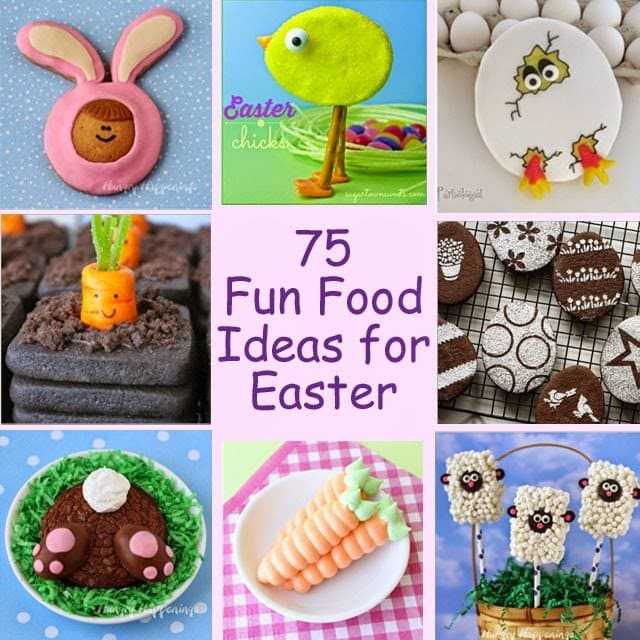 75 Fun Food Ideas for Easter | HungryHappenings.com