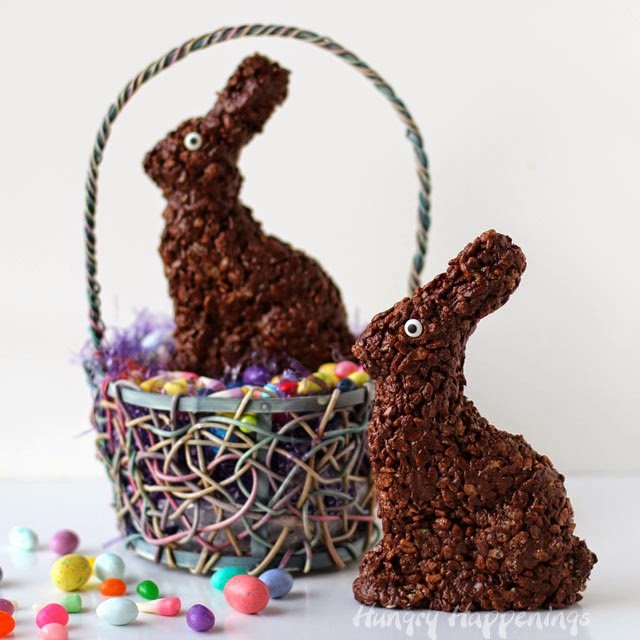 Cocoa Krispies Easter Bunny Treats   HungryHappenings.com