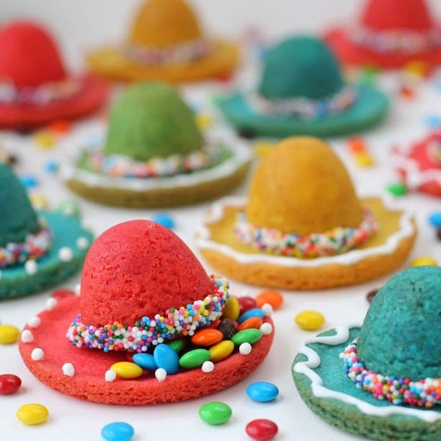 Sombrero Piñata Cookies filled with Candy