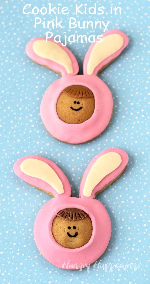 Cookie Kids in Pink Bunny Pajamas make fun Easter treats.