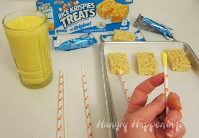How to coat rice krispie treat in candy melts