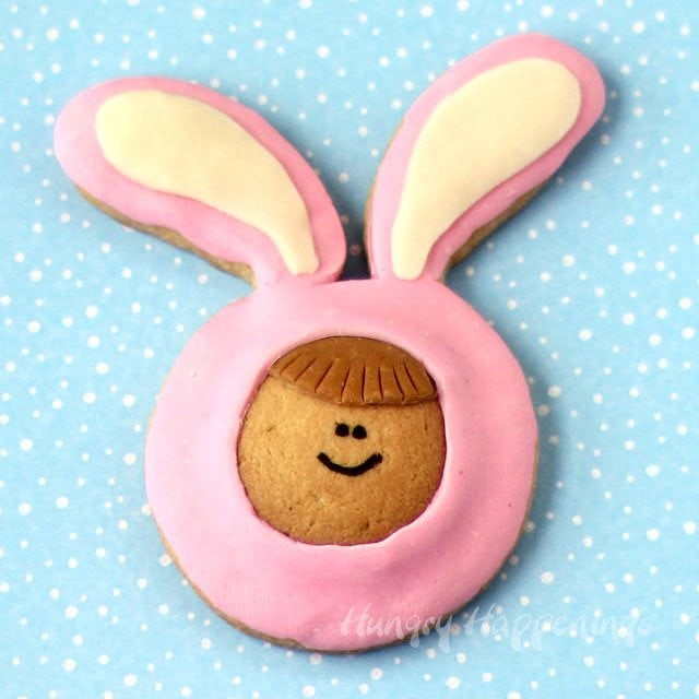 Cute Kid in Easter Bunny Pajamas Cookies are fun to make using Vanilla Wafers and homemade cookies.