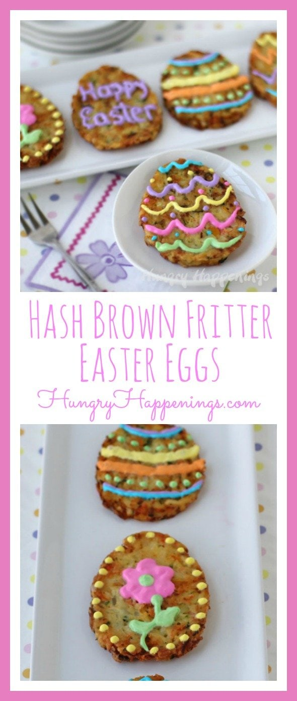 Not much is better than eating all the delicious food on Easter! I am so excited to give you A fun Easter Brunch Idea that will turn your family get together into a festive one! These Hash Brown Fritter Easter Eggs are a delicious side to compliment all of your other amazing dishes!  Sponsored by #Ore-IdaHashBrown