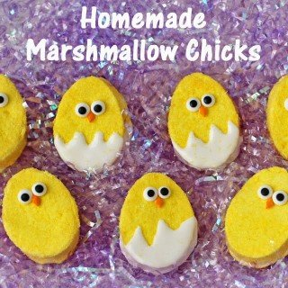 Homemade Marshmallow Easter Chicks