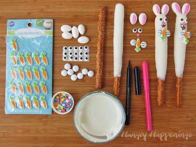 How to make Easter Bunny Pretzel Pops