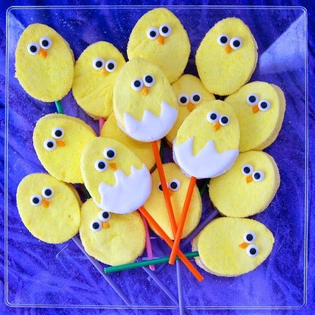 homemade marshmallow chicks for Easter